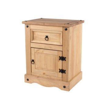 Corona 1 Door, 1 Drawer Bedside Cabinet