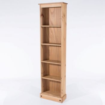 Corona Tall Narrow Bookcase