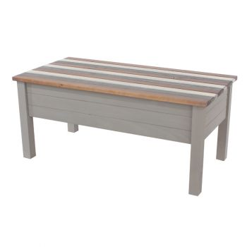 Corona Vintage Mixed Colour Top & Grey Waxed Pine Coffee Table