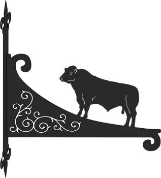 Lincoln Red Bull Decorative Scroll Hanging Bracket