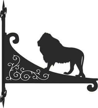 Lion Decorative Scroll Hanging Bracket
