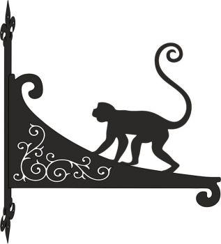 Monkey Decorative Scroll Hanging Bracket