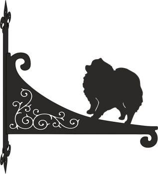 Pomeranian Decorative Scroll Hanging Bracket