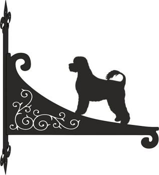 Portuguese Waterdog Decorative Scroll Hanging Bracket