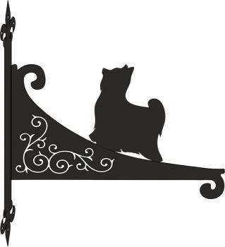 Yorkshire Terrier Decorative Scroll Hanging Bracket