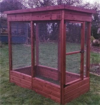 Buttercup Display Aviary 3' x 3' x 6' Outdoor Bird Aviary or Pet Cage