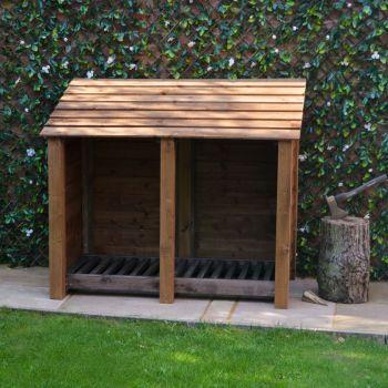 Cottesmore 4Ft Log Store - Rustic Brown