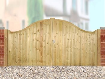 Drayton Low Shaped Driveway Double Gate 330cm Wide x 125cm High
