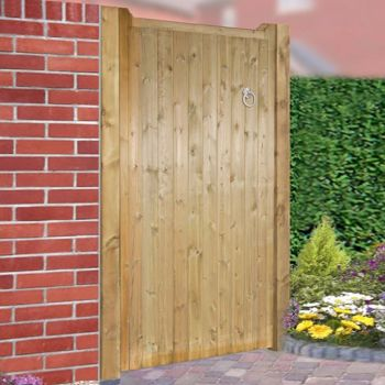 Drayton Flat Top Tall Single Gate 105cm Wide x 180cm High