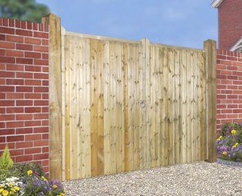 Drayton Tall Square Top Driveway Double Gate 330cm Wide x 180cm High
