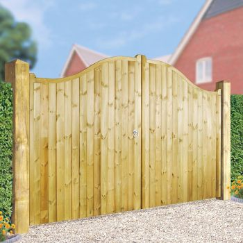 Drayton Tall Shaped Driveway Double Gate 330cm Wide x 180cm High