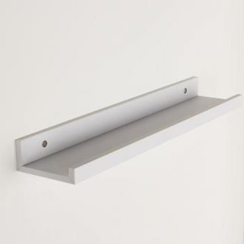Dura Display Shelf in Matt White, 580mm x 100mm