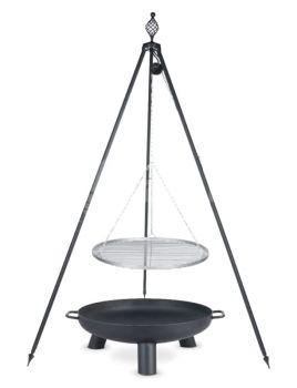 Oskar Barbecue Tripod & Swinging Grill & Fire Bowl Pan 37