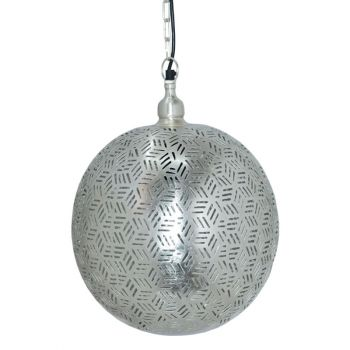 Ancient Marrakesh Hanging Lamp Ball with Hexa Etching