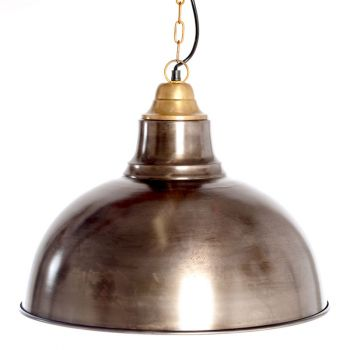 Industrial Retro Hanging Lamp Shade with Top, 46cm Dia.