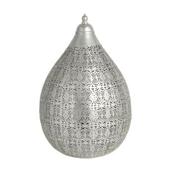 Ancient Marrakesh Table Lamp Balloon with Enchor Etching