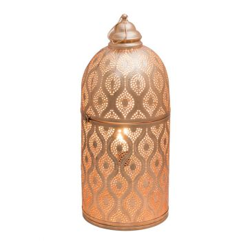 Rabat Rose Gold Table Lamp Cylinder with Oval Chitai