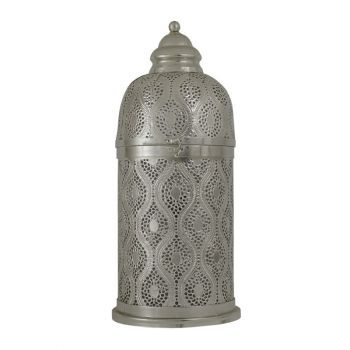Tiznit Silver Table Lamp Cylinder with Oval Chitai