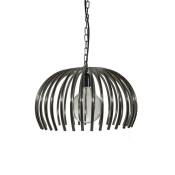Industrial Retro Hanging Lamp Shade Basket with Pipe Frame