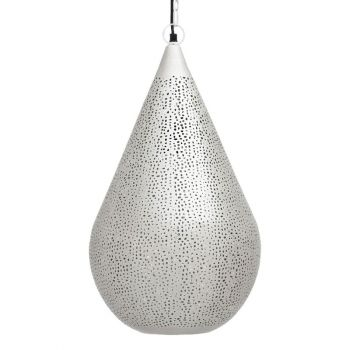 Ancient Marrakesh Hanging Lamp Drop Cone with Mesh Etching