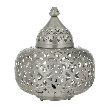 Ancient Marrakesh Table Lamp Matki with Heart Etching, 42cm Dia.