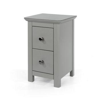 Elgin 2 Drawer Petite Bedside Cabinet
