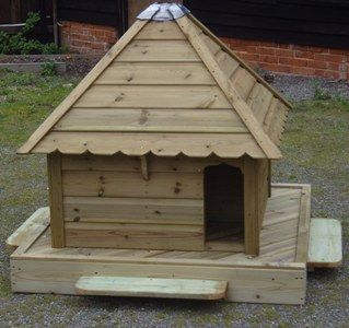 Medium Square Indian Runner Floating Duck House, Waterfowl Nesting Box for Pond or Lake