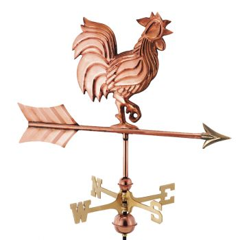 Cottage Rooster Copper Weathervane