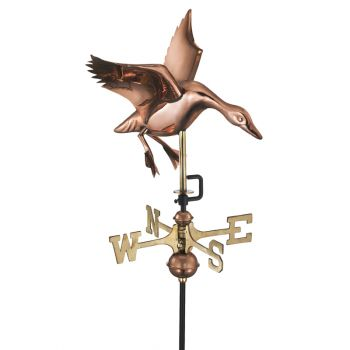 Cottage Landing Duck Copper Weathervane