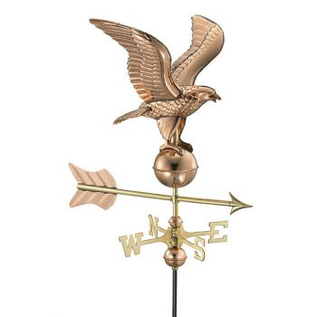 Cottage Eagle Copper Weathervane