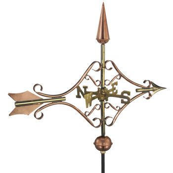 Cottage Victorian Arrow Copper Weathervane