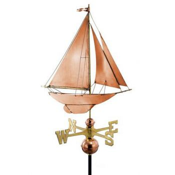 Farmhouse Copper Racing Sloop Weathervane