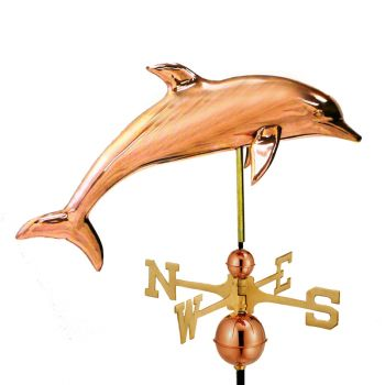 Farmhouse Copper Dolphin Weathervane