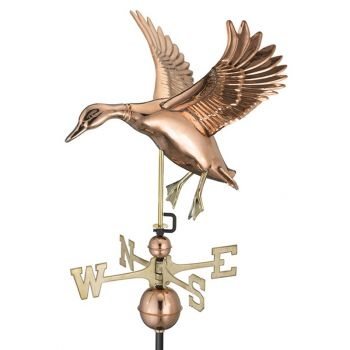 Farmhouse Copper Landing Duck Weathervane