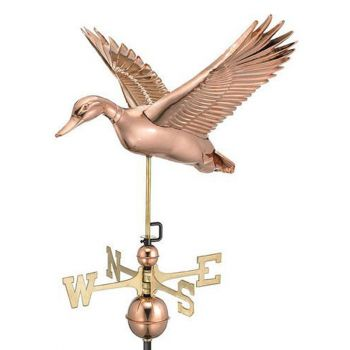 Farmhouse Copper Flying Duck Weathervane
