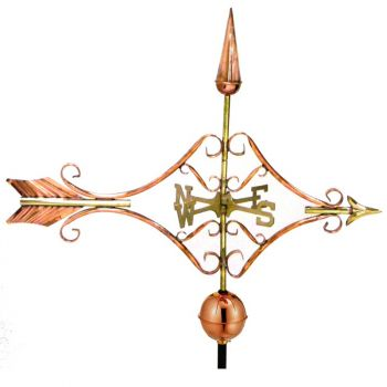 Farmhouse Copper Victorian Arrow Weathervane