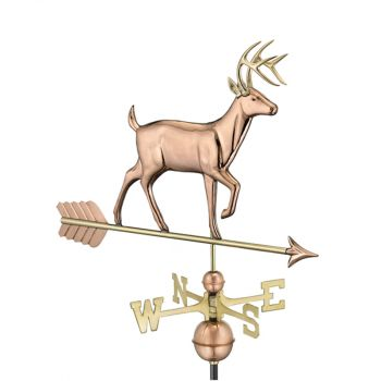 Farmhouse Copper Buck Deer Weathervane