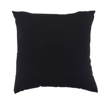 "Scatter Cushion 18"" x 18"" Black Outdoor Garden Furniture Cushion"