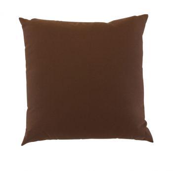 "Scatter Cushion 18"" x 18"" Chocolate Outdoor Garden Furniture Cushion"