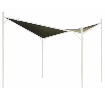 Twin Sail Gazebo Canopy 3x3m Grey