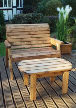 Deluxe Bench Set Quality Wooden Garden Furniture, fully assembled