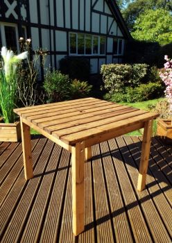 Two Seater Square Table Quality Wooden Garden Furniture, fully assembled