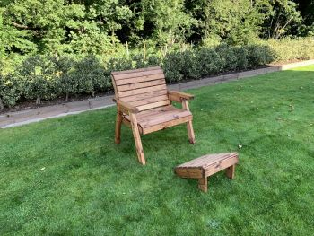 Grand Chair with Footstool - Fully Assembled