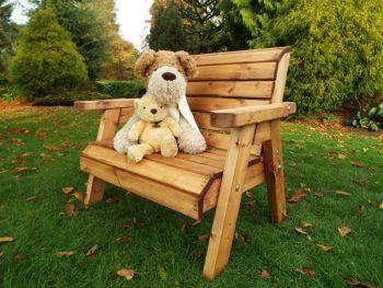 Little Fellas Traditional Bench, wooden garden children's furniture, fully assembled