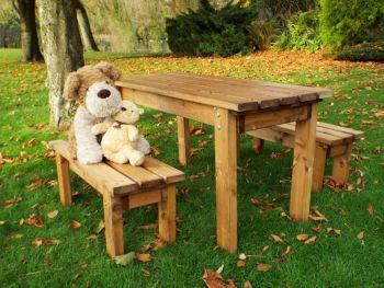 Little Fellas ECO Table Set, wooden garden children's furniture, fully assembled