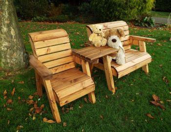 Little Fellas Bench/Chair Combination Set (Straight), wooden garden furniture for children, fully assembled