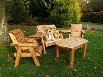 Little Fellas Multi Set, wooden garden furniture for children, fully assembled