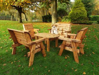 Little Fellas Deluxe Table Set, wooden garden furniture for children, fully assembled