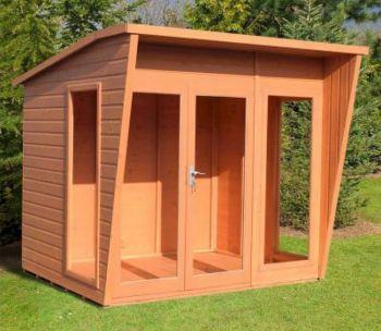 Highclere 8' x 6' Double Door with Three Windows Summerhouse