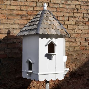 Higham Dovecote Bird House - Hexagonal two tier Nest Box